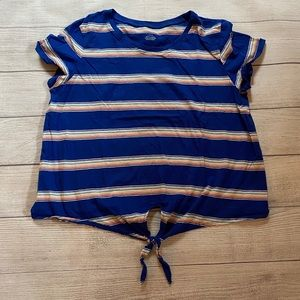 American eagle tie front tee